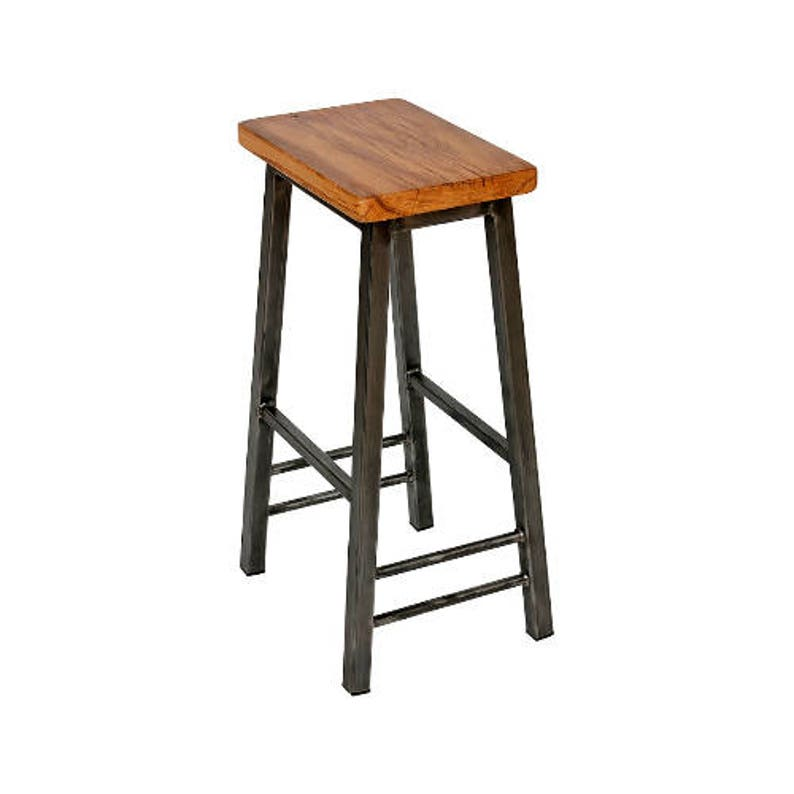 Steve Oakman  Saddle Stool with Oak Seat image 0