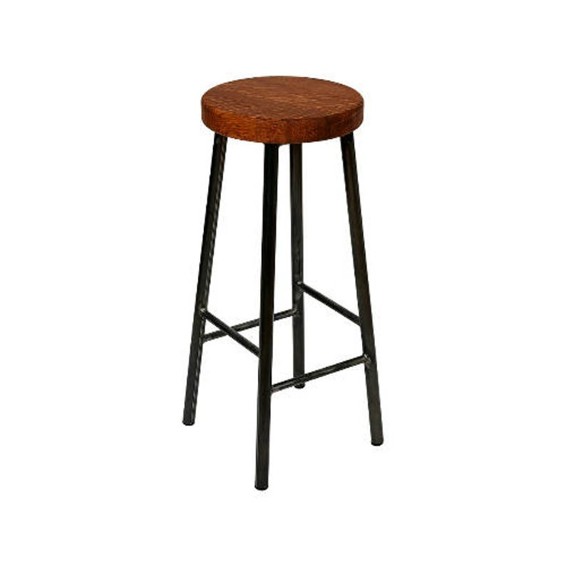 Rick Broadoak-Brown  Chunky Round Frame Bar Stool with Chunky image 0