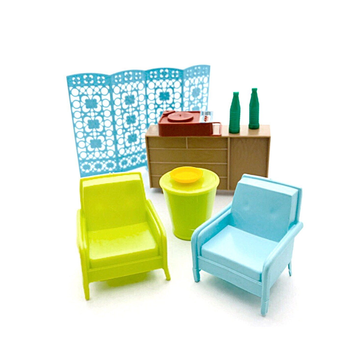 1 16 Scale Vintage Dollhouse Furniture 50s 60s Living Room Family