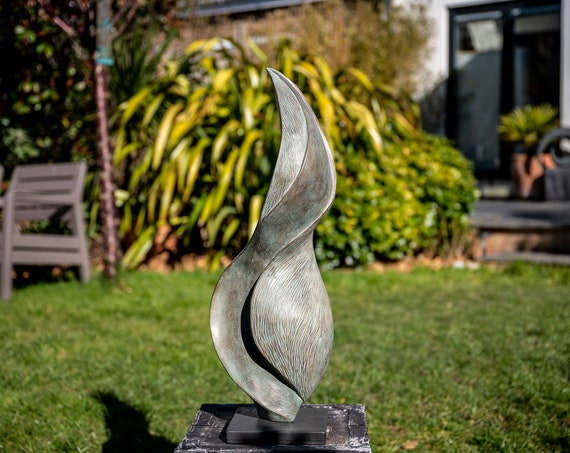 'Undulation' Sculpture - Limited Edition bronze and resin sculpture, garden or interior sculpture