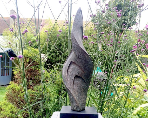 Twist garden sculpture, Limited Edition bronze sculpture