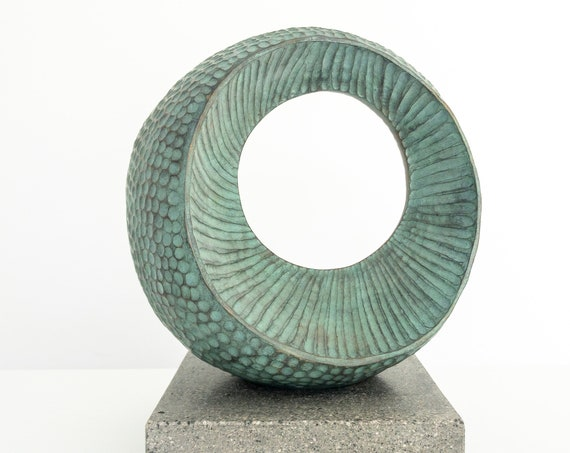 Large Abstract Form III, garden Sculpture, Limited Edition bronze and resin sculpture