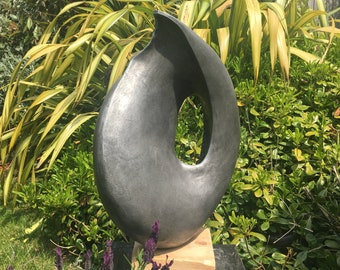 Fiji Sculpture, Garden Sculpture, Indoor Sculpture, Metal Sculpture, Garden  Art, Modern Sculpture, Abstract, Shell