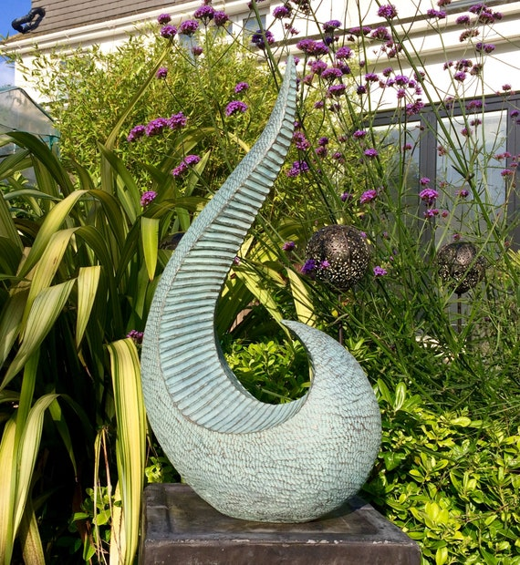 Ridge Sculpture - Limited Edition bronze and resin sculpture, garden or interior sculpture