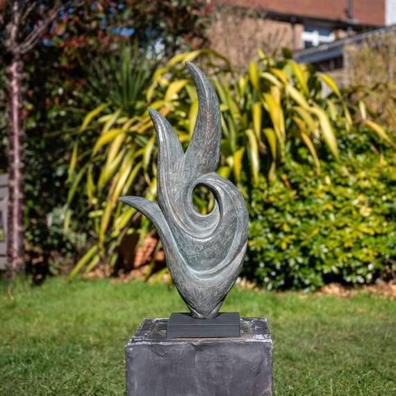 'Rise' Sculpture - Limited Edition bronze and resin sculpture, garden or interior sculpture