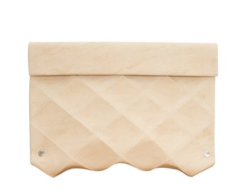 MODERN  CLUTCH ECO friendly in leather Origami size M