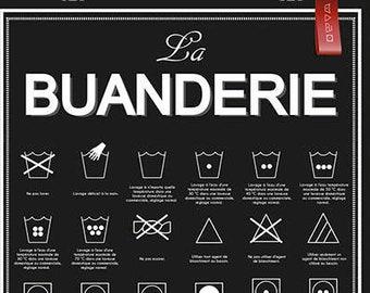 Laundry poster wall decor