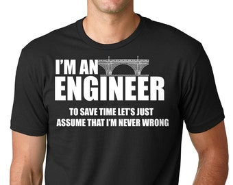 fdef2be0b Engineer T-Shirt Gift For Engineer Funny Occupation Engineering Tee Shirt