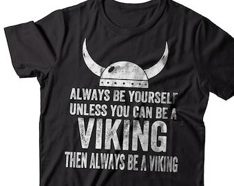 01f6c31b Viking T-Shirt Funny Vikings Tee Shirt Valhalla valknut Odin Sign T-Shirt