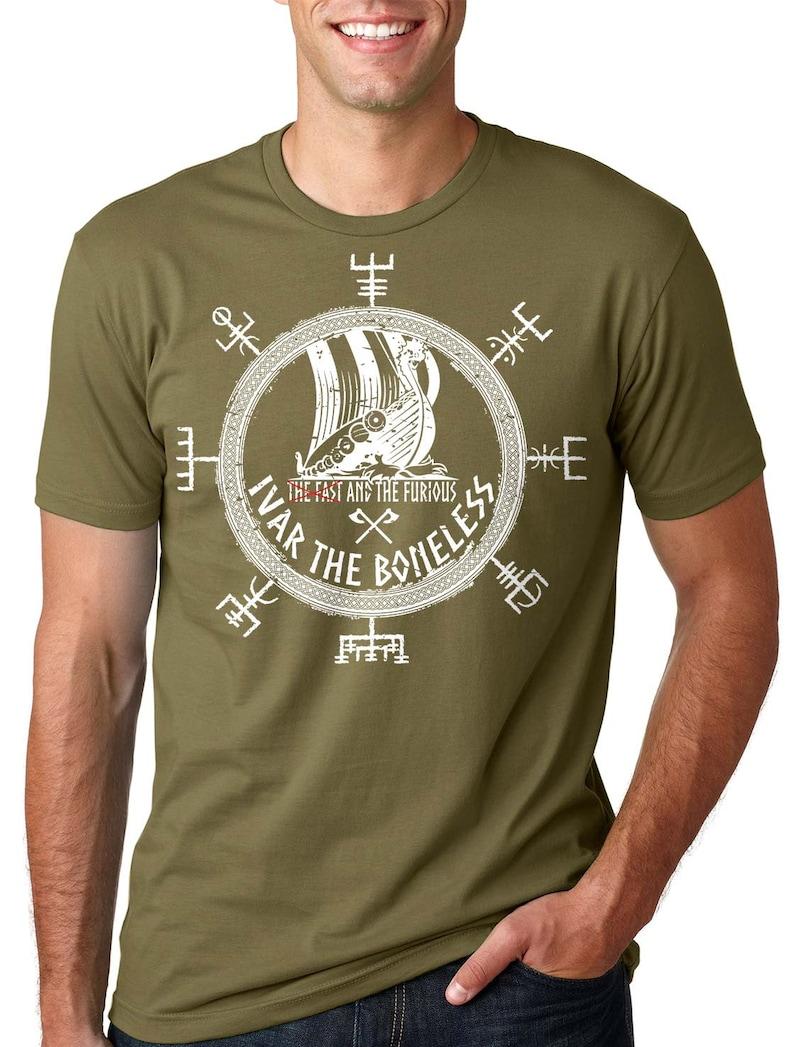 b194c839a9 Viking T-Shirt Ivar The Boneless Tee Shirt Valhalla Odin Sign   Etsy