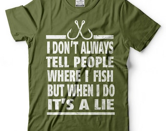 Fisherman T-Shirt Funny Fishing Apparel Tee Shirt Father's Day Gift Ideas