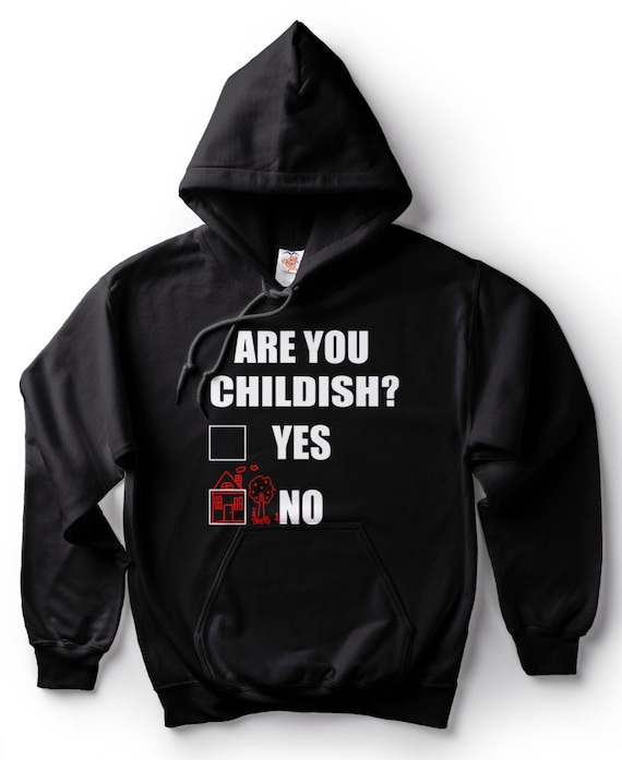 Kids Hoodie Are you childish
