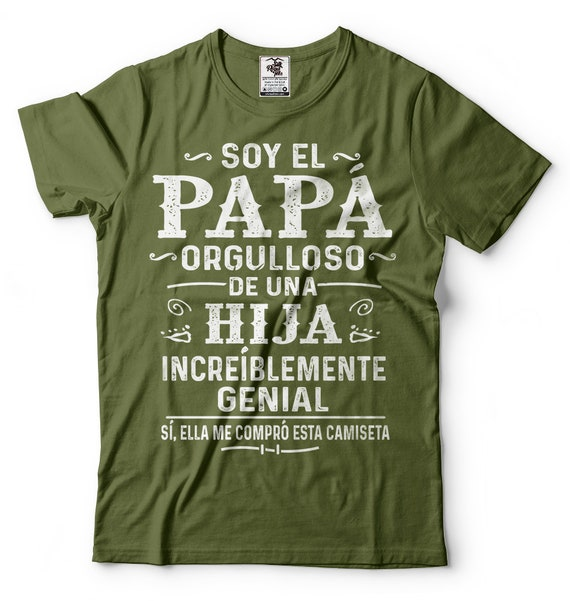 Spanish Papa T Shirt Funny Dad Father Grandpa Grandfather Christmas Gift Ideas Tee