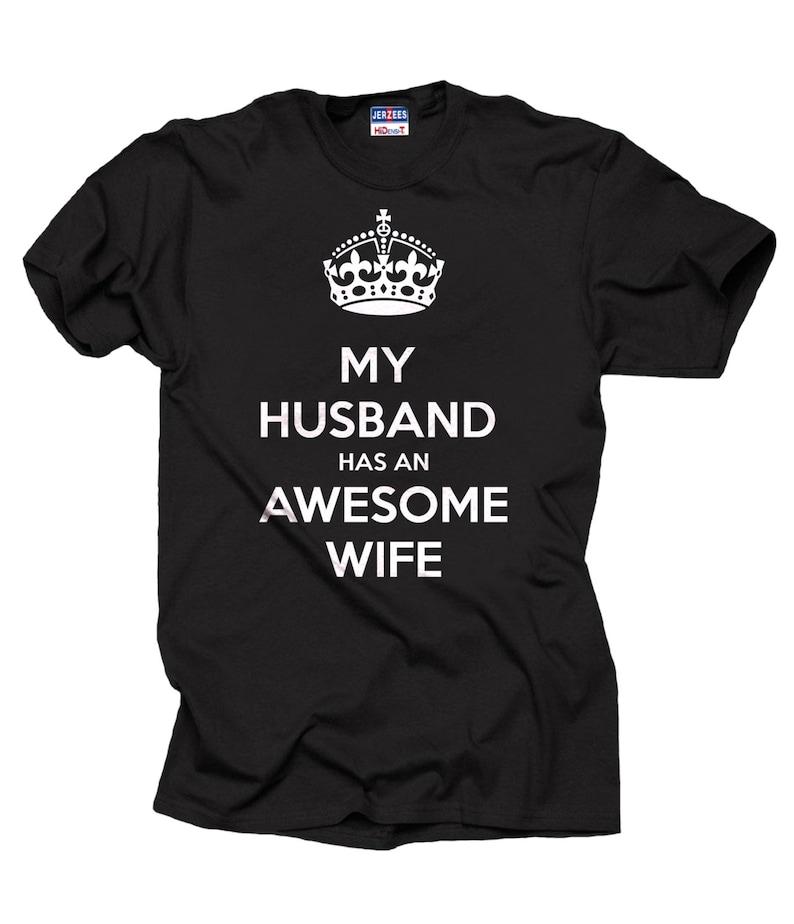 Mijn Man Heeft Een Geweldige Vrouw T Shirt T Shirt Cadeau Naar Etsy