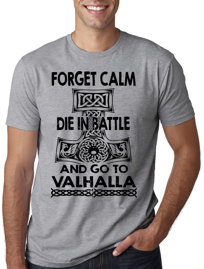 f084e746 Viking T-Shirt Valhalla Battle Oding Sign Norway Tee Shirt | Etsy