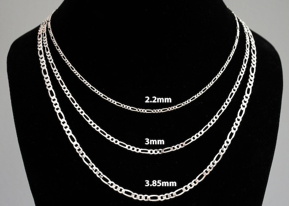 """16/"""" ONE STERLING SILVER 925 QUALITY FINE CURB NECKLACE CHAIN 41 CM"""