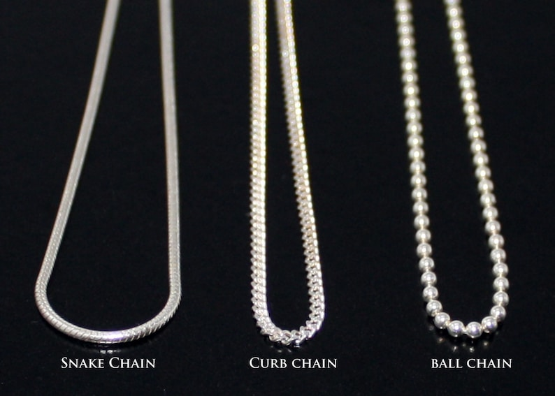Sterling Silver .925 Chain Snake Chain Curb Chain Ball Chain  8f730937c