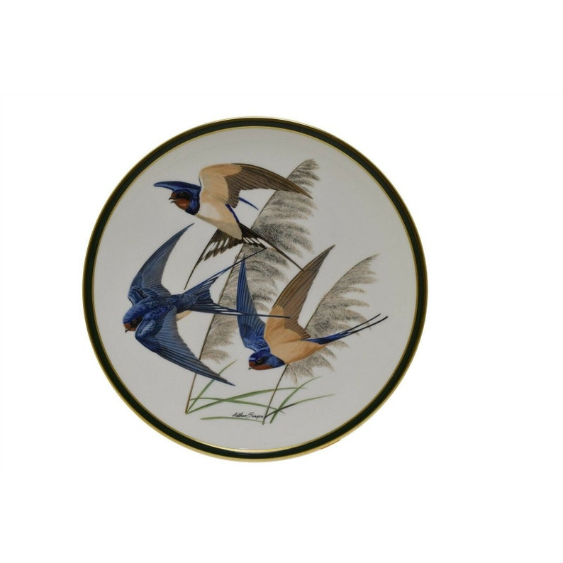 Franklin Porcelain Collector Plate Wedgwood Barn Swallow Singer 1977