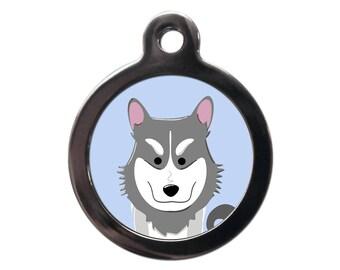 Husky Pet Tag Etsy