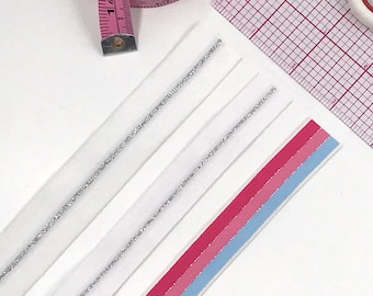 "3/4"" (20mm) or 1"" (25mm) Plush Soft Matte Elastic, Waist or band elastic- 1 Yard"