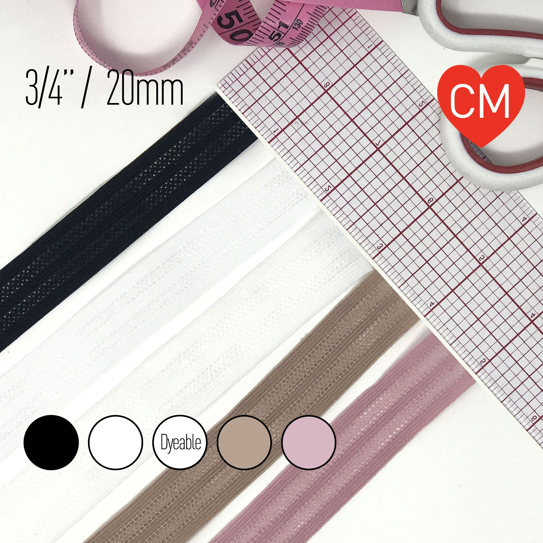 Sleepwear Stretch Trim for Bra Flat Elastic with Mesh Stripes 20mm 2 Yard 34 Loungewear Yoga Pants