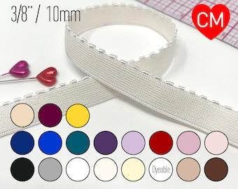 "3/8"" (10mm) Picot Elastic, Soft, Plush Back– 2 Yards"