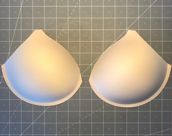 Thin Padding Full Cover Bra Cups with Seam - Sizes 32-38