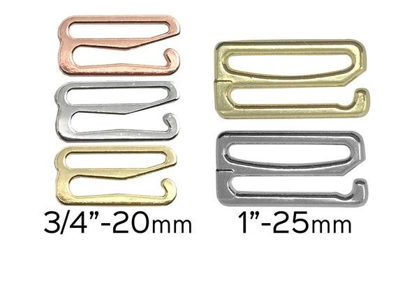 2 Sizes 3 Styles 240 Pieces Swimsuit Bra Hooks Bra Strap Hooks Bra Strap Slide Replacement Bra Strap Slider Nylon Bra Strap Rings for Swimsuit Tops and Lingerie