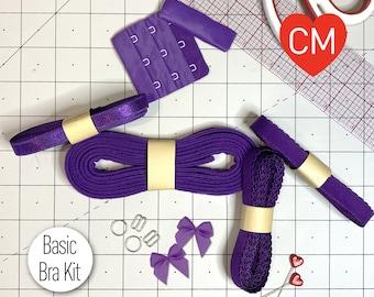 Basic Bra or Bralette Making Kit in Jewel Purple
