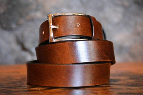 Cintura uomo in pelle marrone regalo per uomo cintura etsy