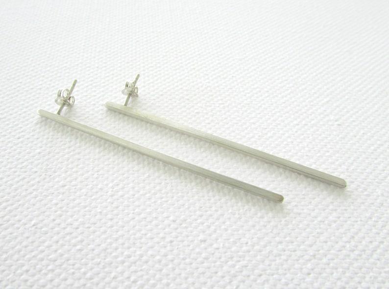 Simple Bar Earrings Minimal Post Earrings Long Earrings Drop Earrings Lightweight Earrings