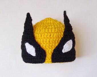 ae725f3b77df43 Wolverine Marvel Hat Costume, Wolverine Beanie Mask- Superhero Hat Newborn  Child Teen Adult X-Men -Halloween /Cosplay Wig / Baby Shower Gift