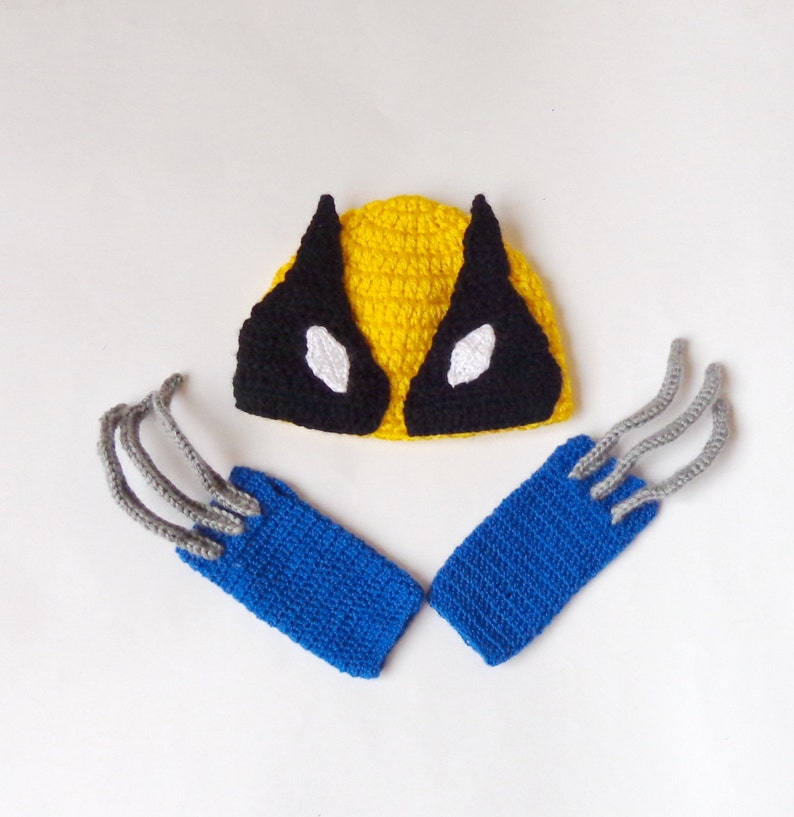 067e0a7ca6d Wolverine Marvel Costume Hat And Gloves Wolverine Beanie