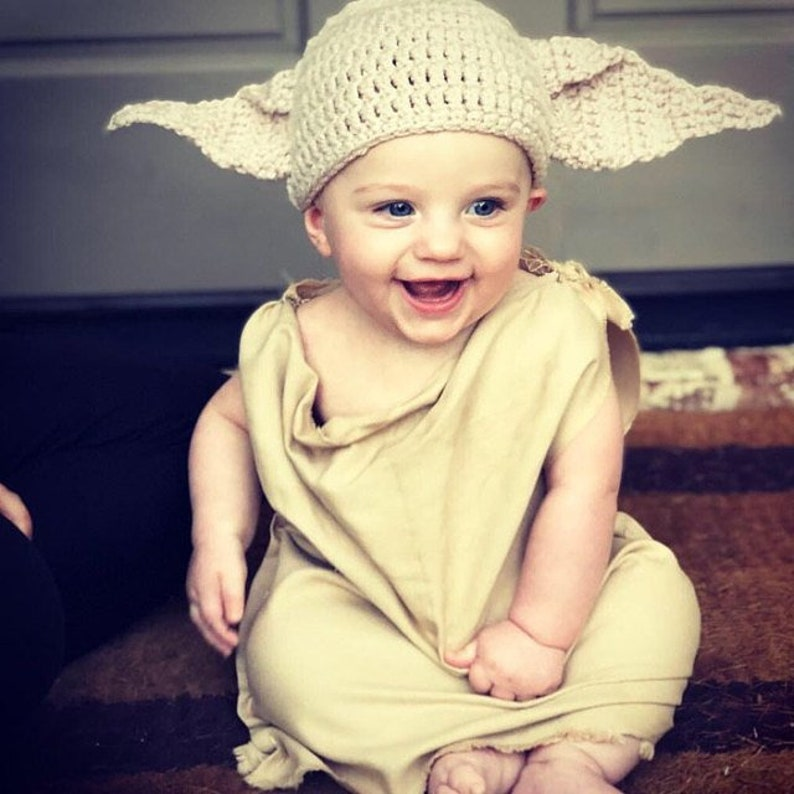 84d2cf47c9227 Baby Outfit Costume - The House Elf Hat And Shirt/Dress - Newborn Baby  Toddler Adult Halloween Costume/ Cosplay Wig / Baby Shower Gift