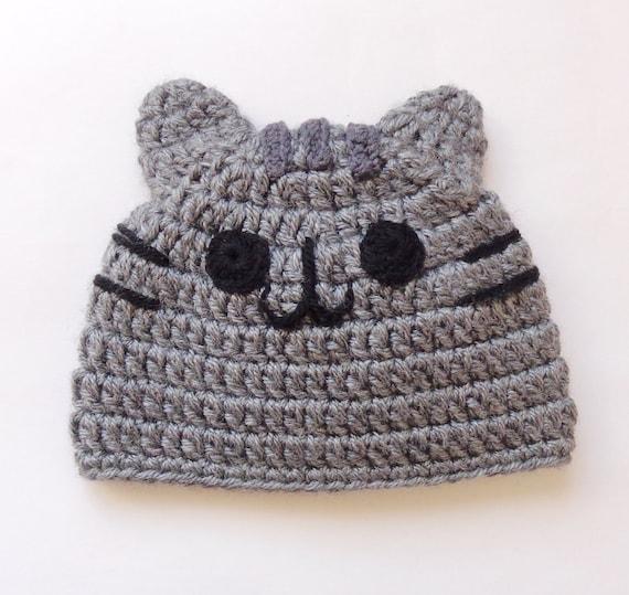 ed3e3343eb3 Pusheen Cat Hat   Beanie Premie Newborn Child Teen Adult