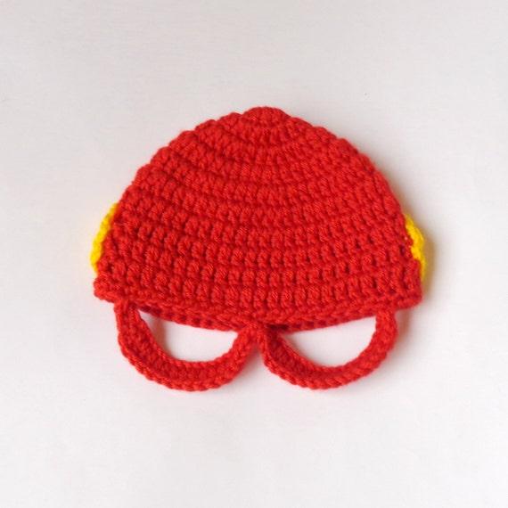 Flash Marvel Hat Flash Beanie Mask Superhero Hat Newborn  188e197e3b3