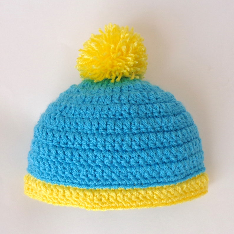 Eric Cartman Hat With Pom Pom South Park Costume Newborn to Adult ... ffaf8a7f1a7