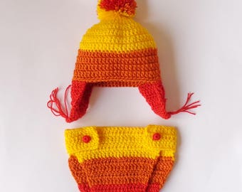 Jayne Cunning Hat and Diaper Cover, Firefly Jayne Hat, Jayne Cobb Earflap Hat  Halloween /Cosplay Wig/Baby Shower