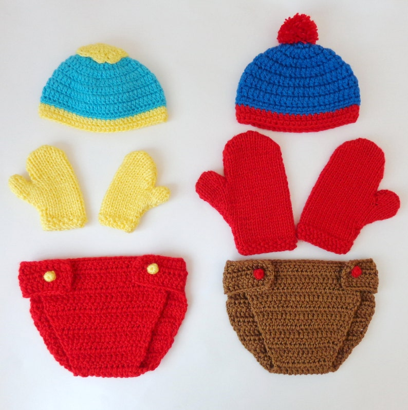4039926b637 South Park Costume Hat And Diaper Cover With Mittens Or
