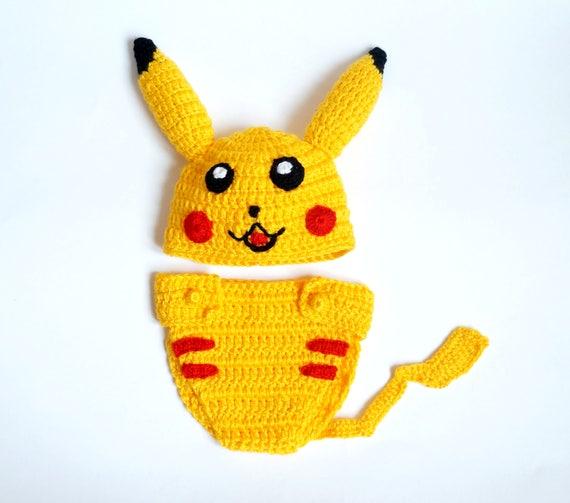 Pikachu Hut Perücke und Windel-Abdeckung Halloween Baby | Etsy