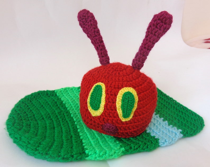 69164d76d Caterpillar Hat Or Beanie With Cocoon- Red Bug Hat - Newborn Baby Teen  Adult - Halloween Outfit Costume/ Cosplay Wig / Baby Shower Gift