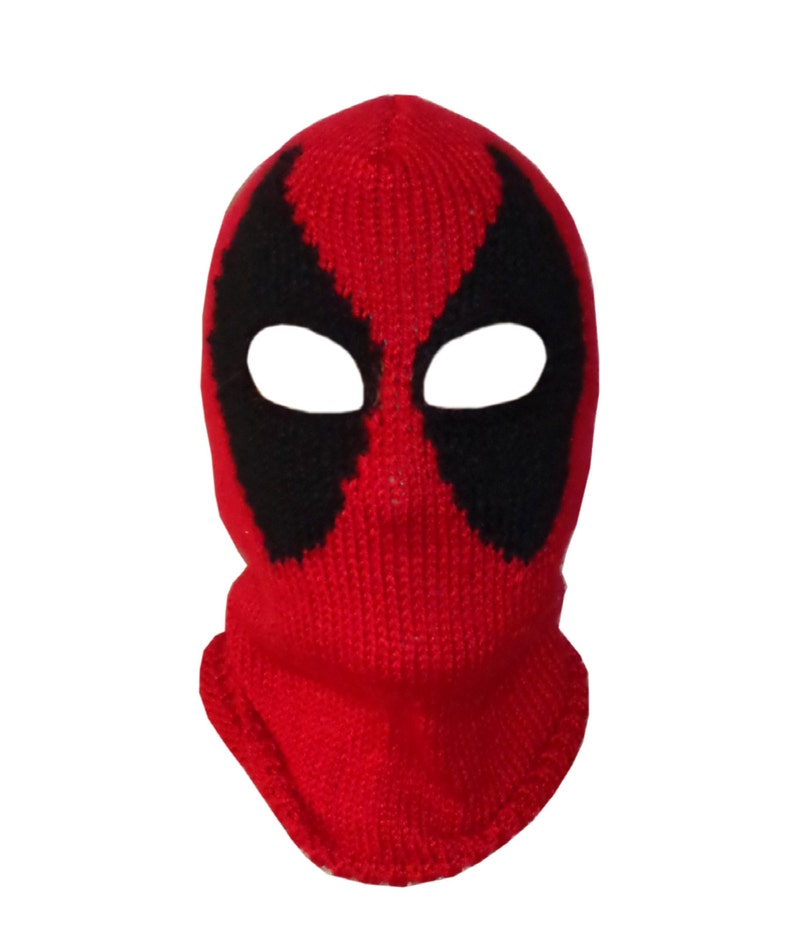 5079fda6 Deadpool Mask Marvel Beanie Mask-Red Hood Mask Superhero | Etsy