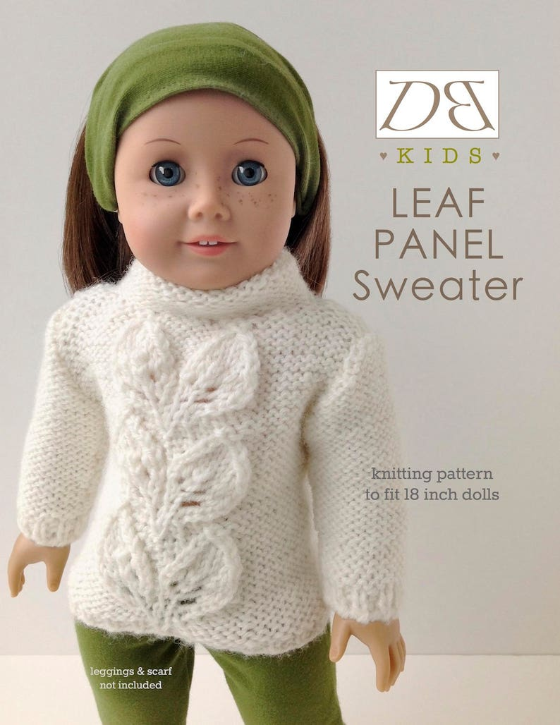 01d291439e6a Doll clothes knitting pattern PDF for 18 inch American Girl | Etsy