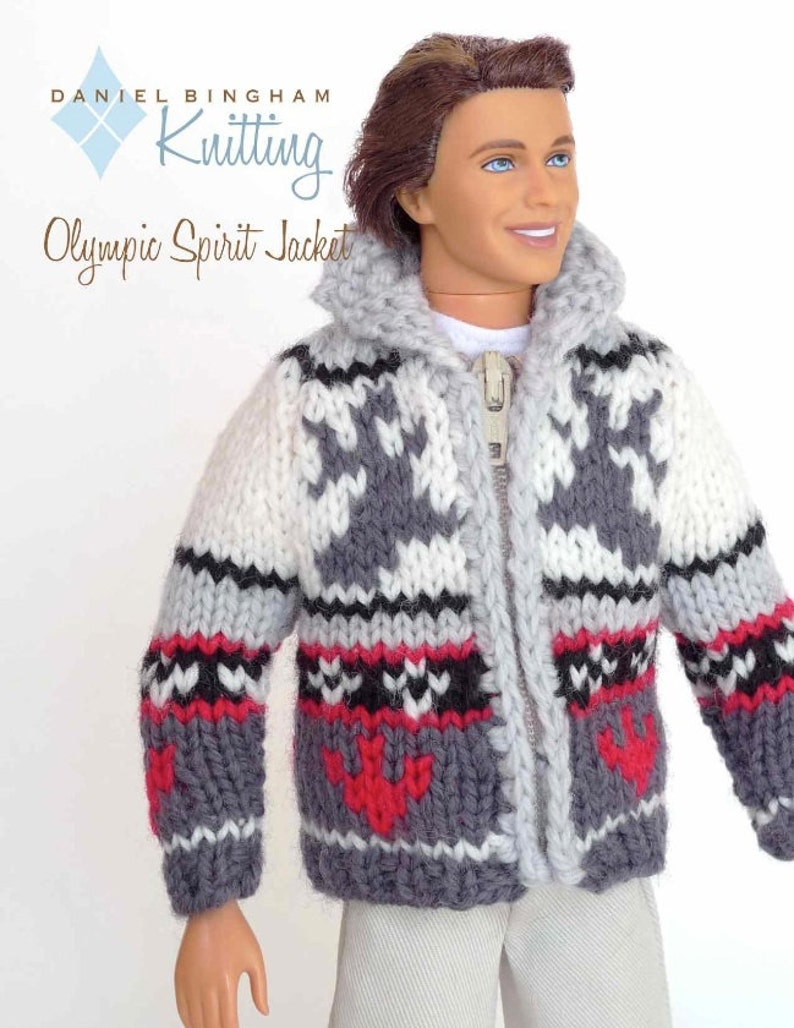 Knitting pattern for 11 1/2 doll Barbie: Olympic   Etsy