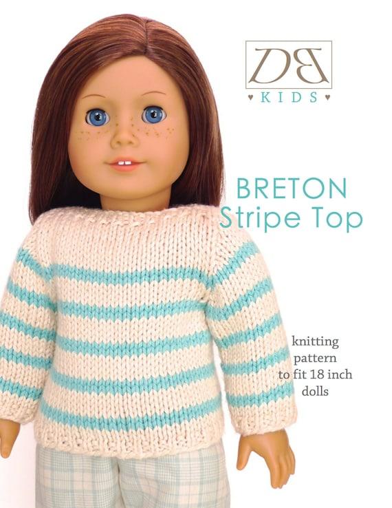 Puppe Kleidung stricken Muster PDF für 18 Zoll American Girl | Etsy