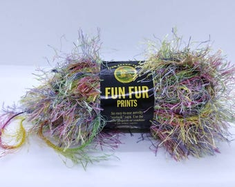 Lion Brand Fun Fur Prints in color Confetti