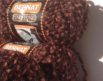 Bernat Ping Pong in color Mocha Madness, Lot of 3 skeins