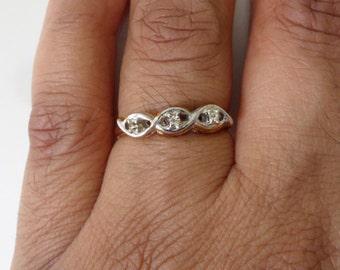Fake Diamond Ring Etsy