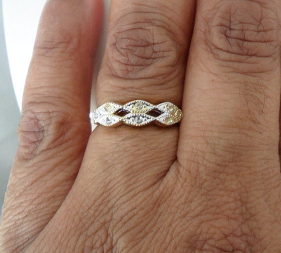 New Old Stock Fake Engagement Ring 18kt Hge Size 7 Ring Faux Etsy