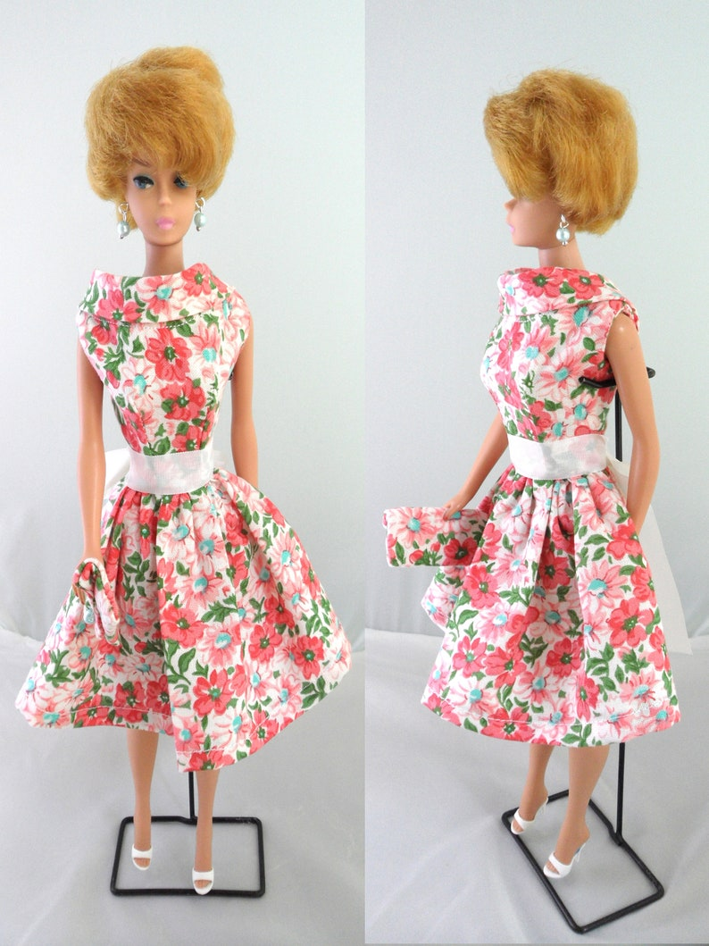 BARBIE BABY Blue SLEEVELESS dress W// DAISY PRINT
